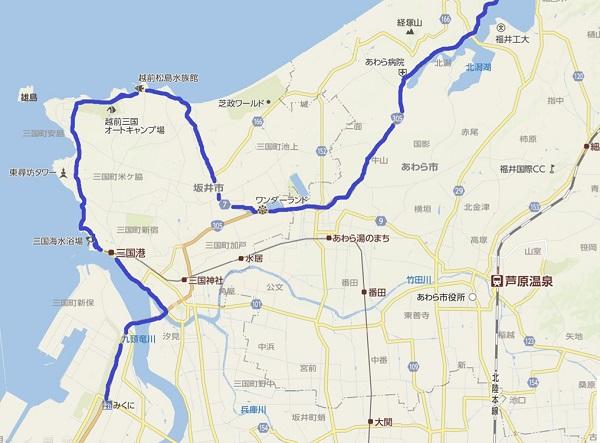福井県あわら市の地図