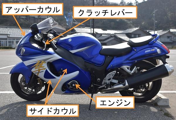 スズキ メガスポーツバイク 隼 レーシングスライダー エンジンガード
