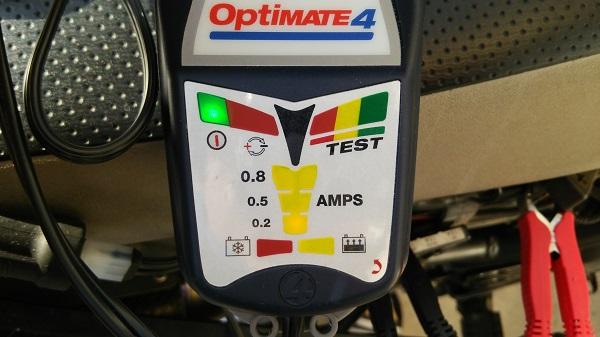 テックメイトの充電器のオプティメート4の本体