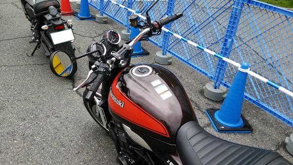大阪モーターサイクルショー2018の試乗車として用意されていたカワサキのバイクのZ900RS