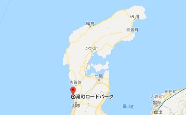 石川県能登半島の地図