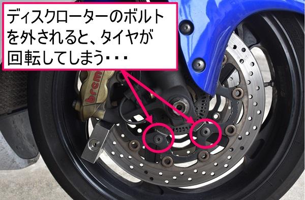 バイクのディスクローター