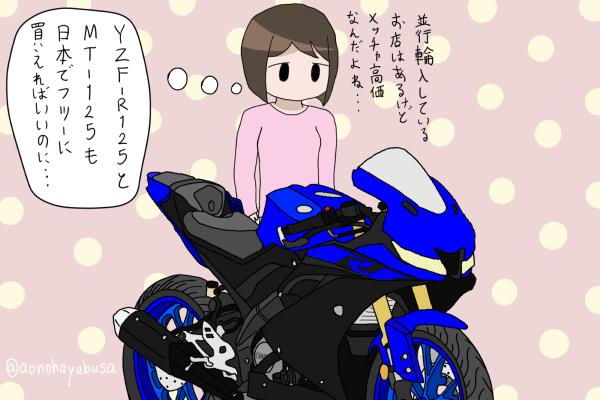 ヤマハ バイクを眺める人 YZF-R125 2019 ブルー