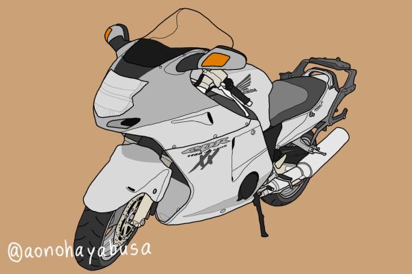ホンダ メガスポーツバイク CBR1100XXブラックバード グレー