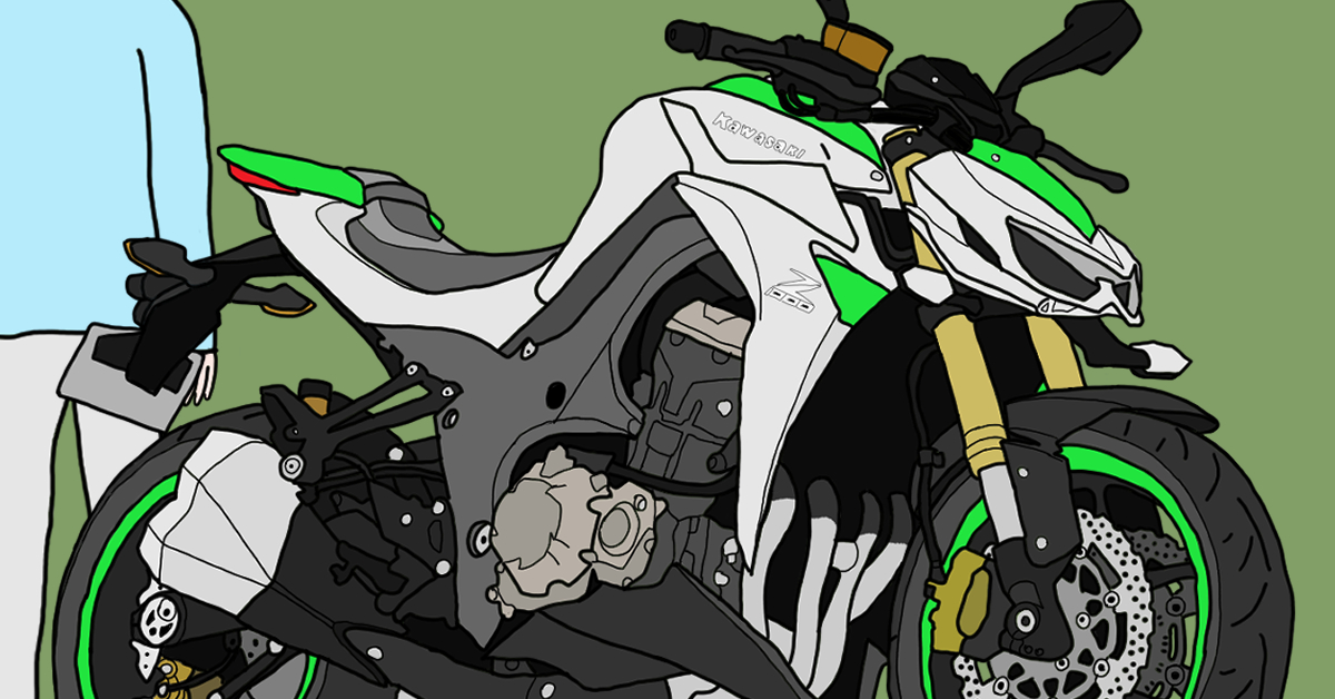 カワサキ リッターバイク Z1000 2014年式 グリーン