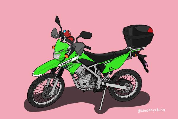 カワサキ オフロードバイク KLX125 リアキャリア トップケース ハンドガード ドリンクホルダー