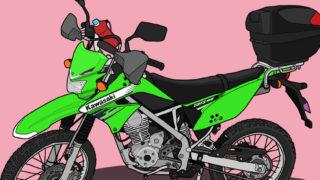 カワサキ オフロードバイク KLX125 リアキャリア パニアケース ハンドガード ドリンクホルダー