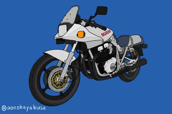 スズキ カタナ GSX1100S バイク イラスト