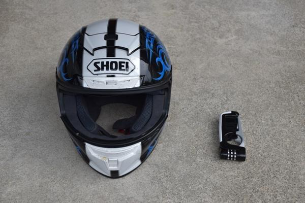 ミツバサンコーワ バイスガード・ダイヤルレバーロック BS-004 ホワイト SHOEIのフルフェイスヘルメットのX-Fourteen KAGAYAMA