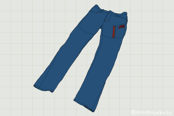 クシタニ Eワークコーデュラパンツ K-1897 ブルー