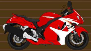スズキ バイク メガスポーツ 隼 2014年式 レッド