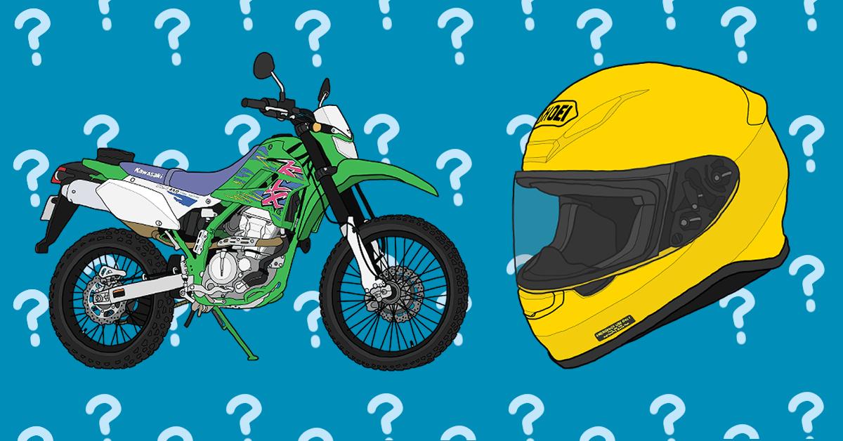 カワサキ オフロードバイク KLX250 FinalEdition SHOEI フルフェイス ヘルメット Z-7 イエロー