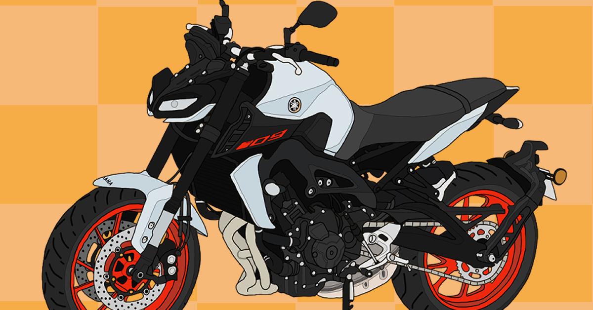 ヤマハ バイク オンロード ネイキッド 大型自動二輪 MT-09 2019年式 マットライトグレーメタリック4