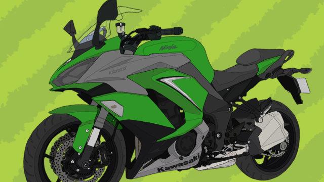 カワサキ バイク Ninja1000 エメラルドブレイズドグリーン×メタリックマットグラファイトグレー 2019年式