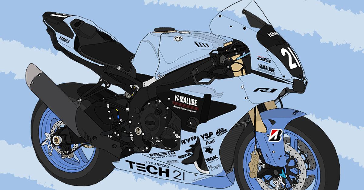 ヤマハ バイク リッターSS YZF-R1 TECH21カラー 2019年鈴鹿8耐