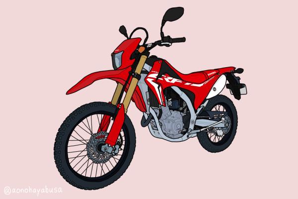 ホンダ オフロードバイク トレール CRF250L 2019年式 レッド