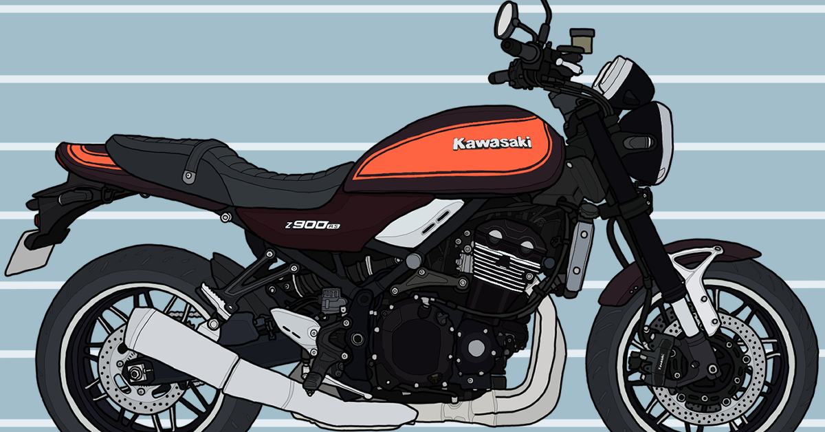 カワサキ バイク ネイキッド Z900RS キャンディートーンブラウン×キャンディトーンオレンジ 2018年式