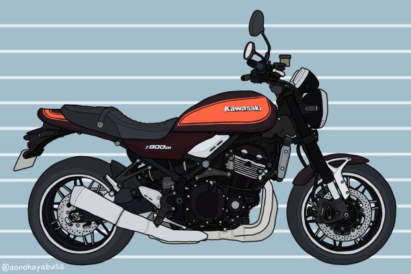 カワサキ バイク ネイキッド Z900RS キャンディートーンブラウン×キャンディトーンオレンジ