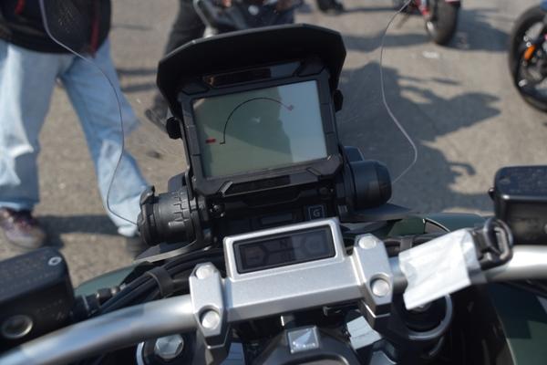 ホンダ バイク スクーター X-ADV 2019年式 マットアーマードグリーンメタリック ハンドル周り