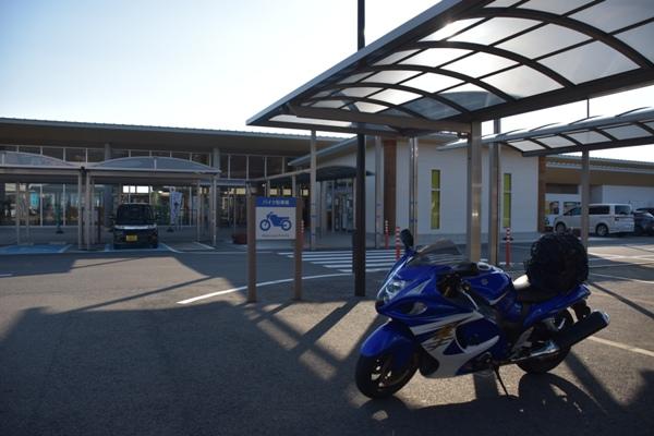 和歌山県 道の駅 すさみ 駐輪場 バイク