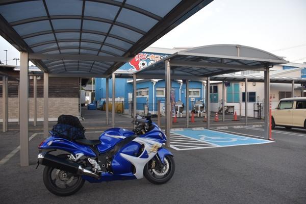 和歌山県 道の駅すさみ 駐輪場 バイク エビとカニの水族館