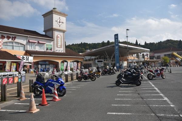 奈良県 道の駅 針テラス 駐車場 バイク