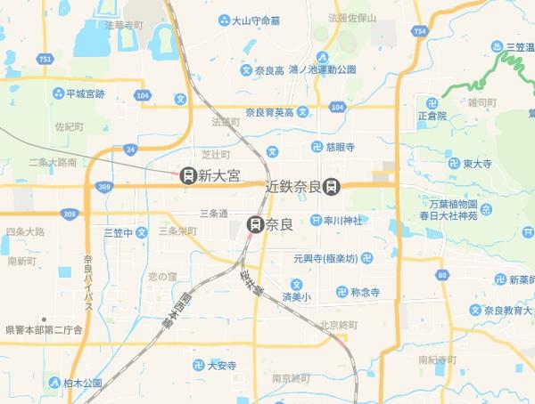 奈良県 奈良市 地図