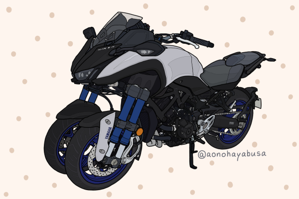 ヤマハ バイク NIKEN マットブルーイッシュグレーメタリック3