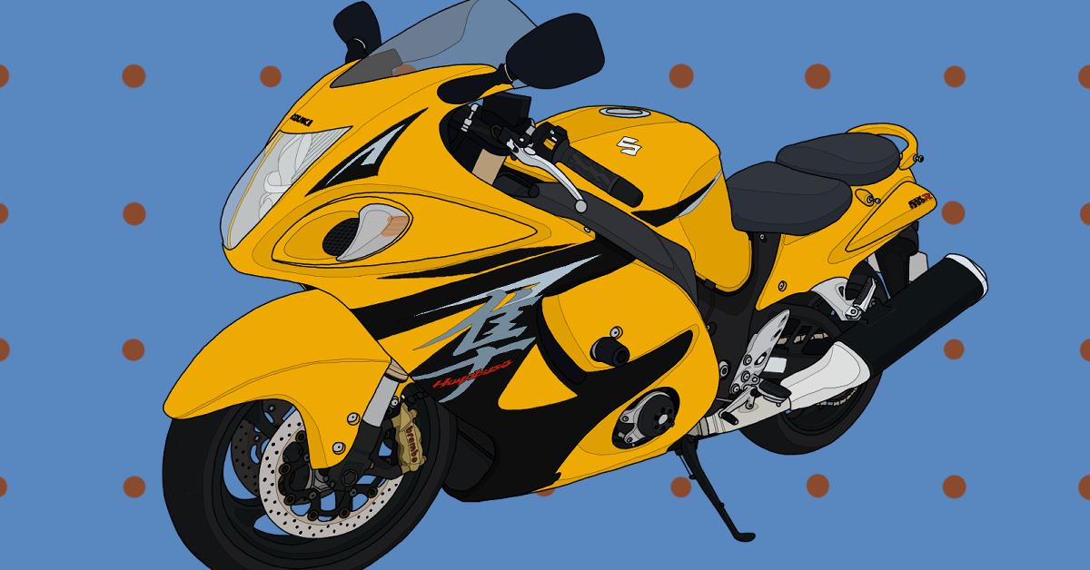 スズキ メガスポーツ バイク 隼 2013年モデル マーブルデイトナイエロー