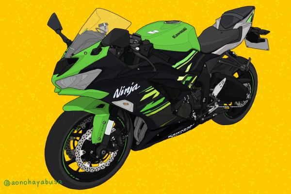 カワサキ バイク ミドルクラス SS Ninja ZX-6R ライムグリーン×エボニー KRT EDITION 2019年モデル