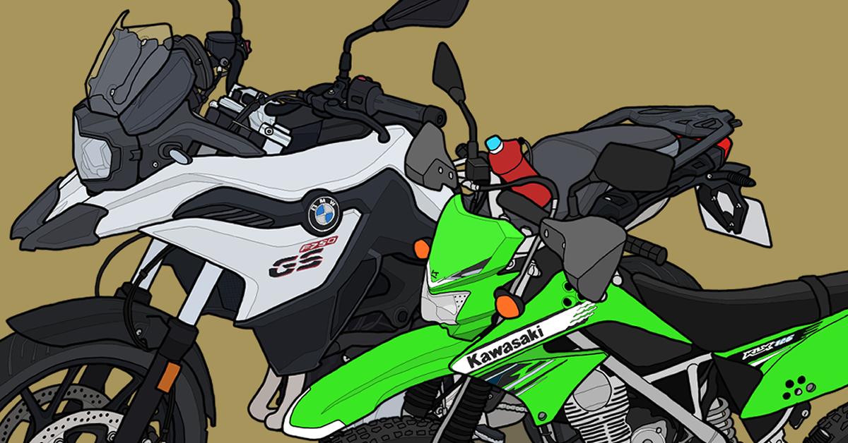 バイク BMWmotorrad アドベンチャー ミドル F750GS カワサキ 原付二種 オフロード KLX125