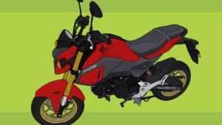 ホンダ バイク 原付二種 125cc GROM パールバレンタインレッド