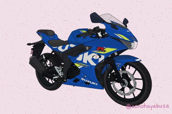 スズキ バイク 原付二種 GSX-R125 トリトンブルーメタリック