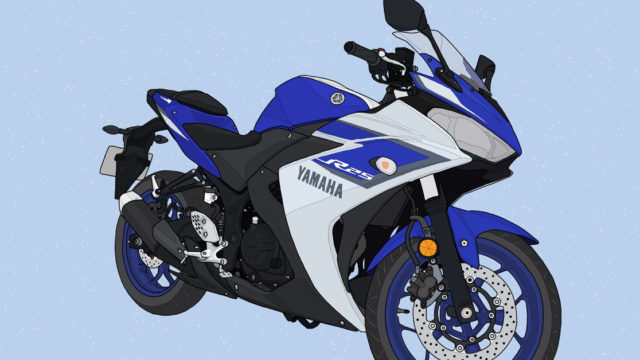 ヤマハ バイク YZF-R25 ディープパープリッシュブルーメタリックC