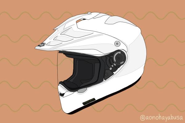 バイク ヘルメット オフロード SHOEI HORNET ADV ホワイト