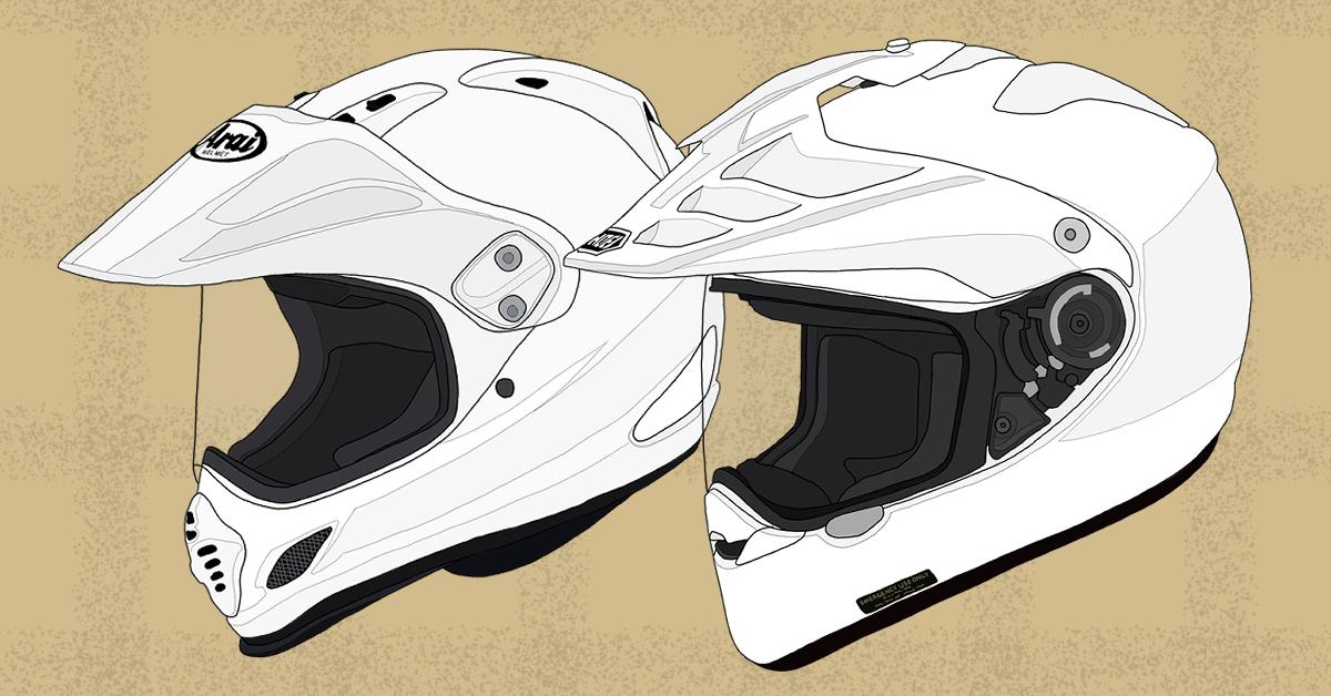 バイク ヘルメット オフロード Arai TOUR CROSS3 SHOEI HORNET ADV ホワイト