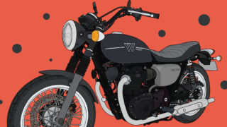 カワサキ バイク W800 STREET メタリックフラットスパークブラック×メタリックマットグラファイトグレー