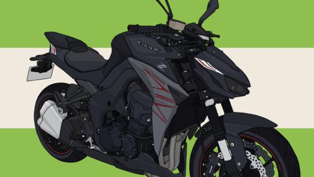 カワサキ バイク ネイキッド Z1000 メタリックフラットスパークブラック×メタリックマットグラファイトグレー