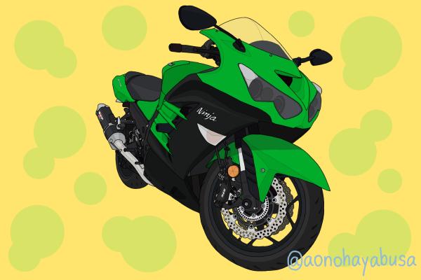 カワサキ バイク メガスポーツ ZX-14R グリーン