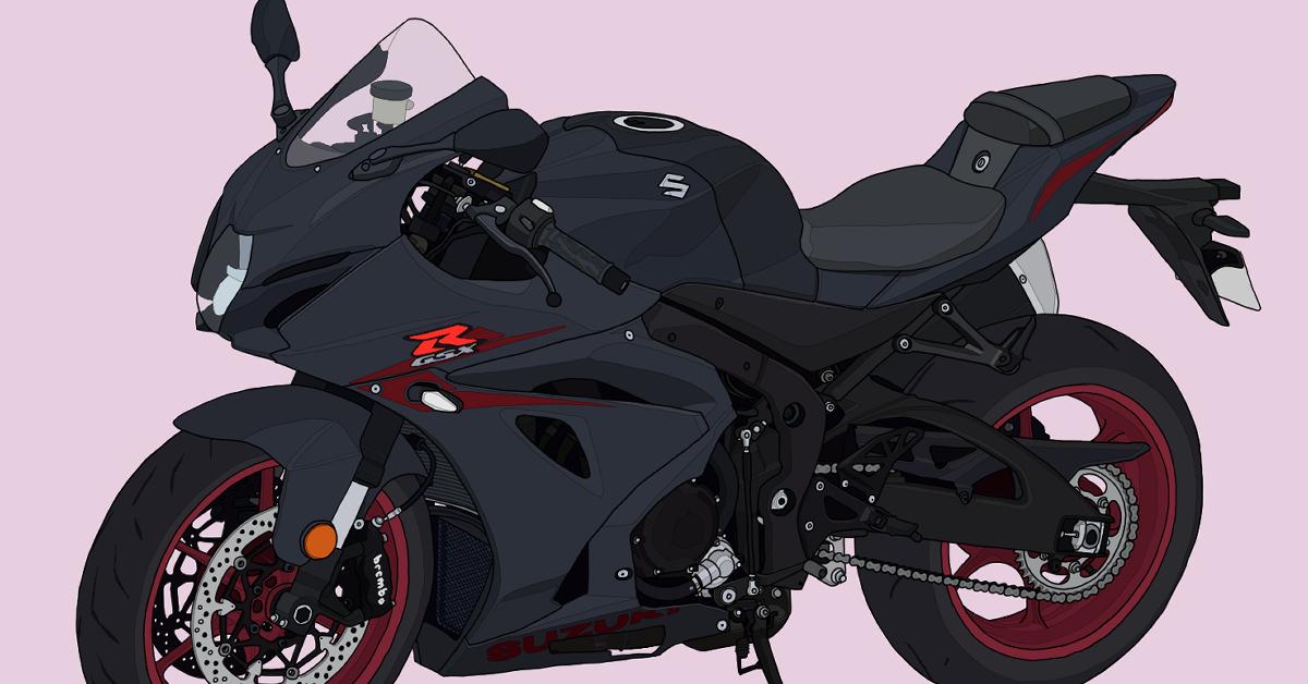 スズキ バイク リッターSS スーパースポーツ GSX-R1000 メタリックマットブラック