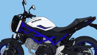 スズキ バイク ネイキッド SV650 パールグレッシャーホワイト/グラススパークルブラック