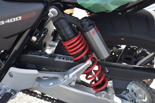 バイク ホンダ ネイキッド CB400 SUPERBOL'DOR ダークネスブラックメタリック リアクッションユニット