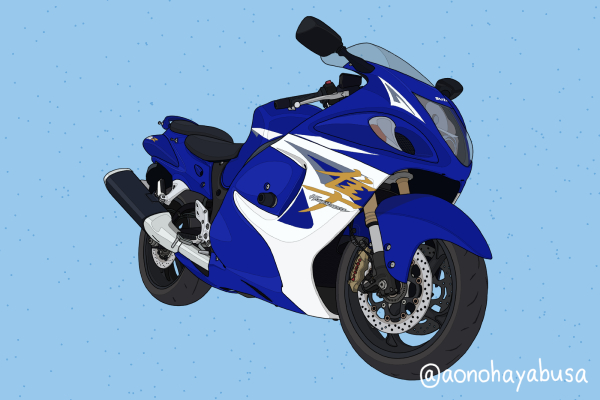 スズキ メガスポーツ バイク GSX1300R HAYABUSA 2014年式 パールビガーブルー×パールグレッシャーホワイト