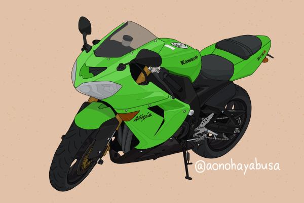 カワサキ バイク リッターSS ZX-10R グリーン