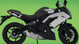 カワサキ バイク Ninja400 グレー×ブラック
